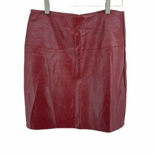 Misguided Vegan Leather Skirt Faux Pencil Wiggle